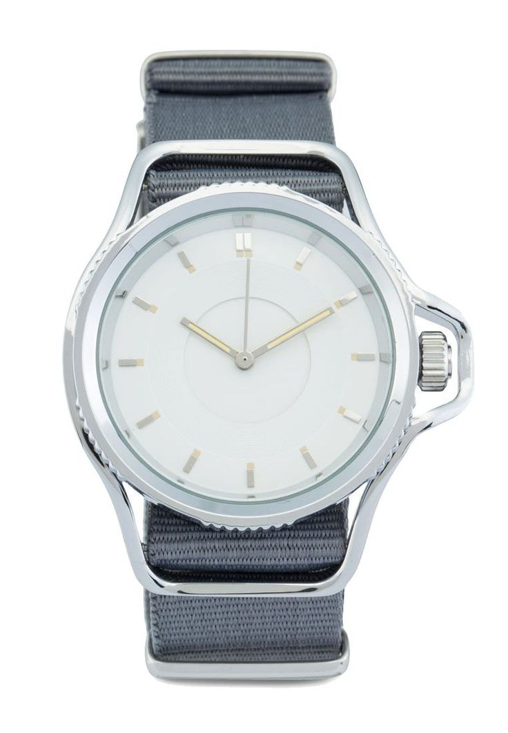 Nylon Strap Watch by ZALORA. Gray watch made of metal alloy case, gray nylon strap, case diameter 3.9 cm, adjustable pin buckle fastening, triple hand movement, perfect for you who like a simple yet stylish watch, simple watch for everyday use.  http://www.zocko.com/z/JGr8j