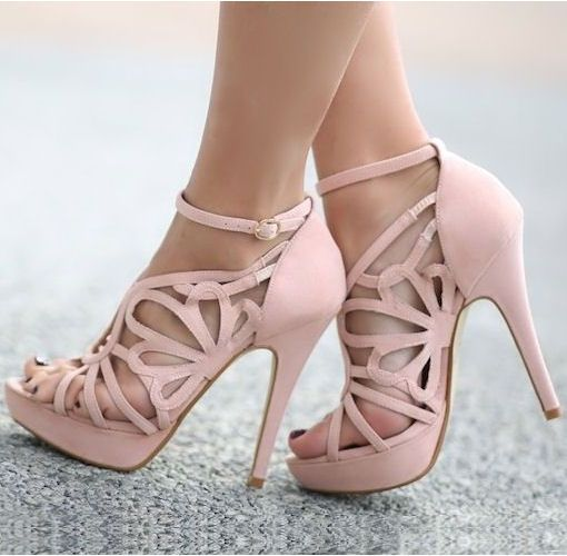 I wished I could still wear heels like these! love them! not to mention they're pink! Blush Cut-Out Heels ღ