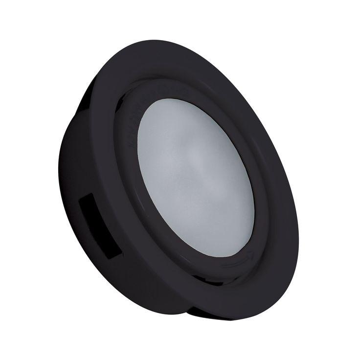 Alico MiniPot Premium 1 Lamp Xenon Cabinet Light In Black And Frosted Glass
