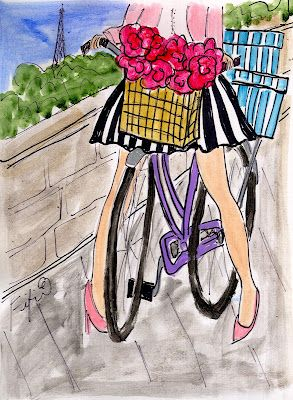 Springtime Shopper in Paris by Fifi Flowers