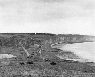 Looking west from the eastern headland of Dieppe