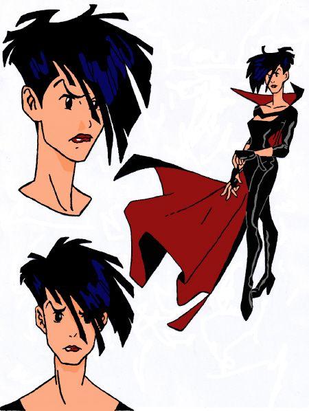 Cybersix cartoon/anime cosplay reference...