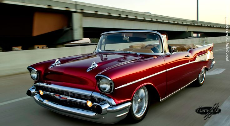 57 Chevy Candy Apple Blonde. I SO want this.