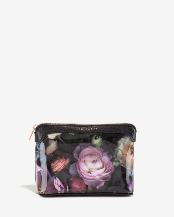 Small Shadow Floral wash bag - Mid Grey | Gifts for Her | Ted Baker ROW