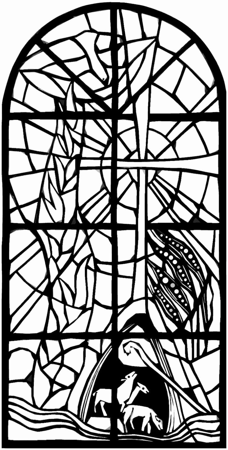 Stained Glass Coloring Book Elegant Day Of Pentecost in