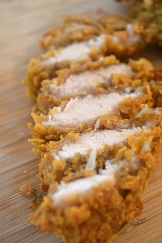Baked Gluten Free Crispy Chicken Strips! Busy days? Double the recipe when you have time then freeze 'em. Bake them from frozen, pair w/ veggies and you'll have dinner in a half hour!  Do you have a food allergy, sensitivity or intolerance? Start following allergy free food today. All free, allergy free. The nutrient-conscious recipes in this site are egg free, dairy free, mustard free, peanut free, seafood free, sesame free, soy free, sulphite free, tree nut free and wheat free / gluten…