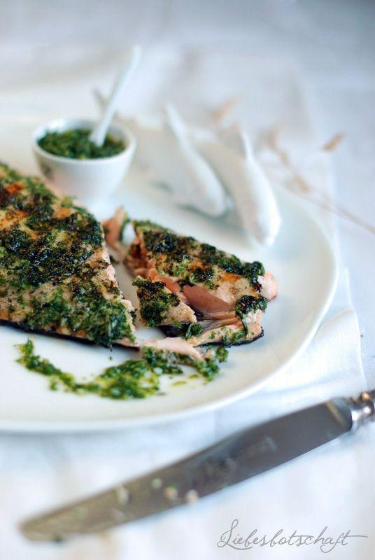 Liebesbotschaft: Das beste und einfachste Lachsrezept der Welt. Besonders appetitlich auf unseren räder Tellern.