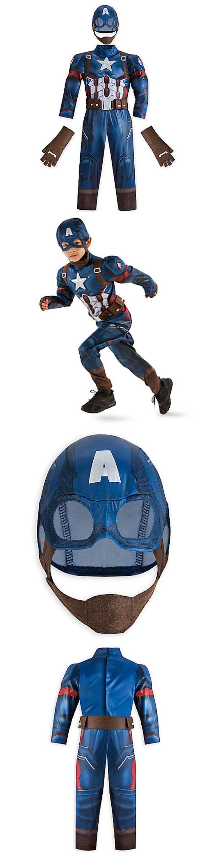 Kids Costumes: Disney Marvel Avenger Captain America Civil War Kids Costume Comic Con Boys 9/10 BUY IT NOW ONLY: $45.0