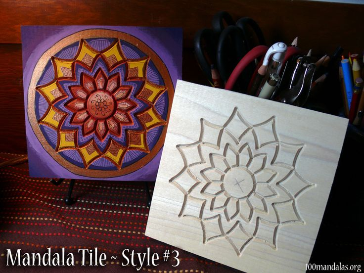 Wood Mandala Tiles ready to paint. $18.50 https://www.etsy.com/shop/TrueNorthArts?section_id=16417751&ref=shopsection_leftnav_4 #100mandalas #DIY #mandala