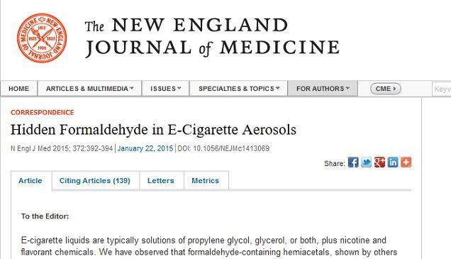 Vaping Studies Formaldehyde Exposure Debunked Dr Vape It Vape Medicine Journal Words