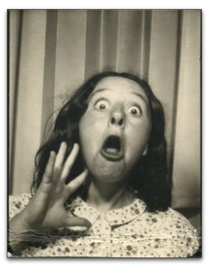 +~ Vintage Photo Booth Picture ~+  Becky loves to make faces