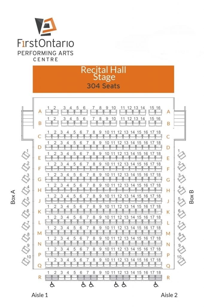 View Seat Maps For All Venues At The Firstontario Performing Arts Centre Within Robinson Center Seating Chart Robinsoncenterperformancehallseatingchart Robin Di 2020