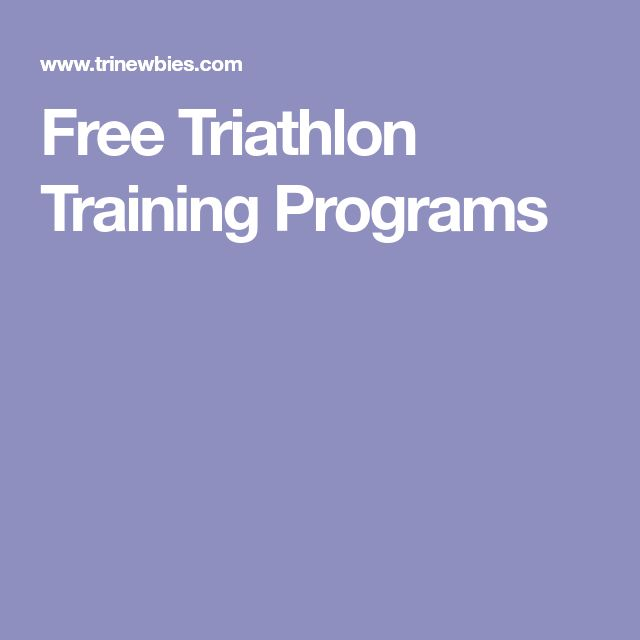 Free Triathlon Training Programs