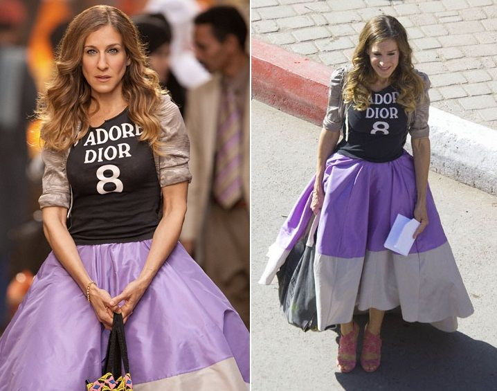 576207b4c94 The Purple Skirt - Carrie Bradshaw s Most Iconic Outfits Ever ...