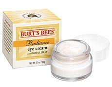 Description: De Radiance Eye Cream is een oogcrème met koninginnegelei het vitaminerijke voedsel dat werkbijen hun koningin voorschotelen. Deze crème heeft een verjongend effect. De toegevoegde kamille- en komkommerextracten kalmeren de huid en het natuurlijke mica maakt rimpels en fijne lijntjes minder zichtbaar. Dermatologisch getest. Bestaat voor 982% uit natuurlijke ingrediënten.  Price: 23.99  Meer informatie  Burts Bees Radiance Eye Cream with Royal Jelly 1425 gram
