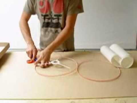 rolled edge lampshade tutorialwmv