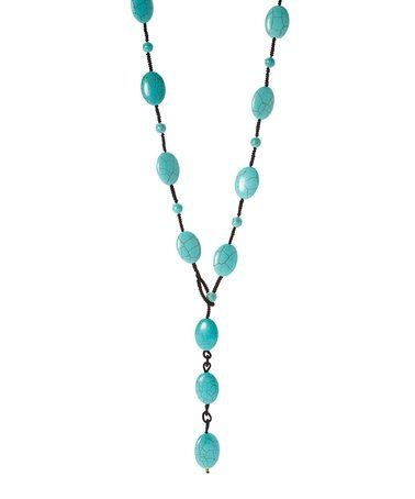 Another great find on #zulily! Turquoise Bead Lanyard Necklace #zulilyfinds