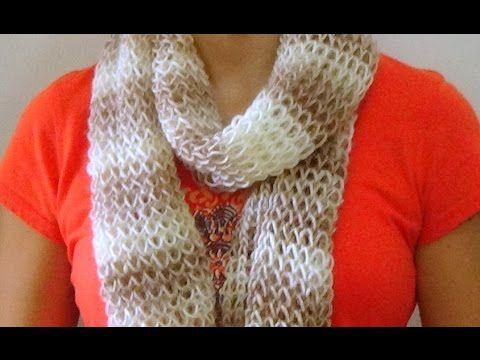Cómo Tejer Bufanda de Fiesta-Knit a Scarf 2 Agujas (287) - YouTube