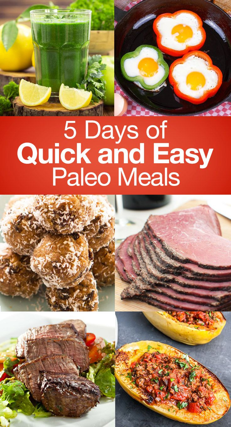 If you're looking to start a Paleo diet or simply want to try new healthy recipes, planning your meals ahead of time is key. Use this five day meal plan to he