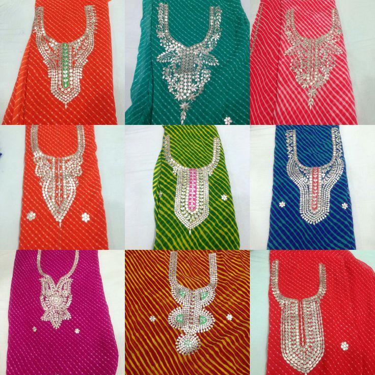Priti Sharma created a story - Kurti material. Georgette kurti material with gota patti work  Wats app 09953703507.