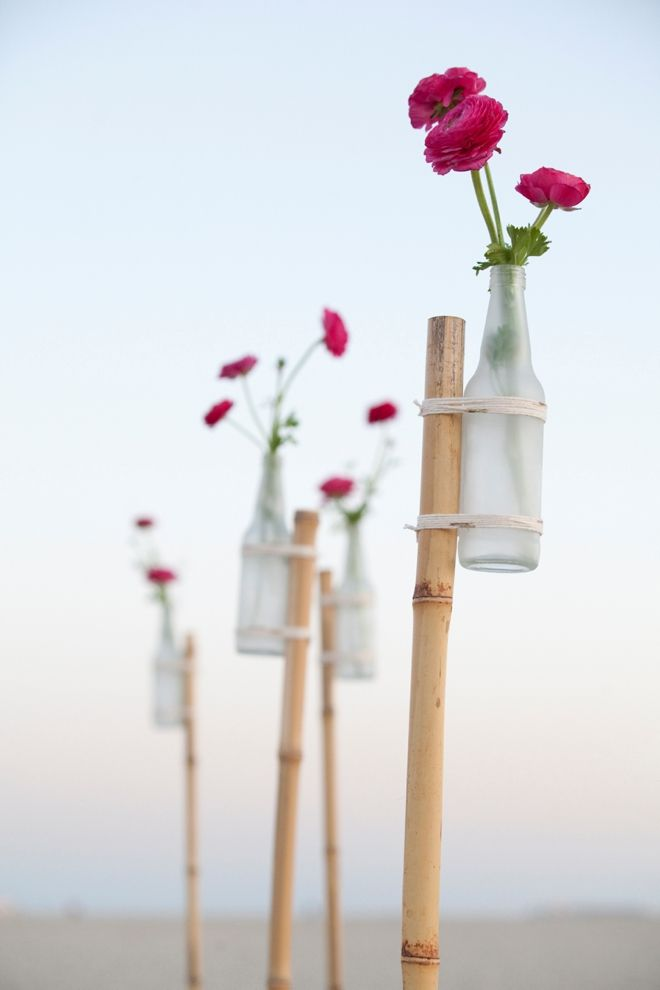 diy frosted glass stakes