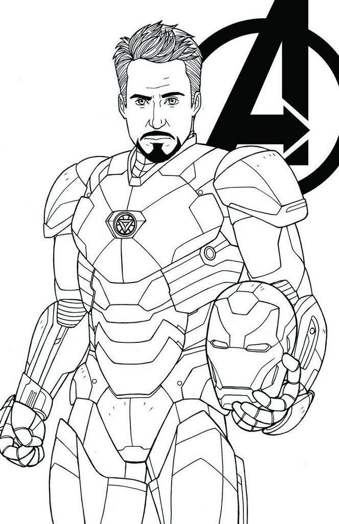 Avengers Infinity War Iron Man Coloring Pages Endgame - maltandmacabre