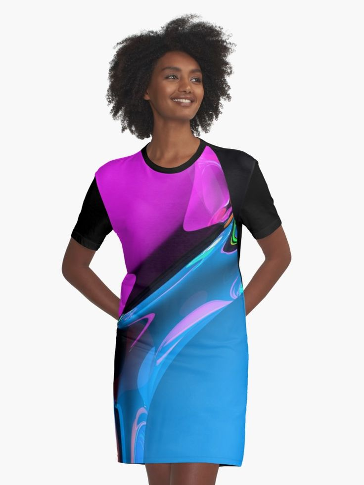 Graphic T-shirt dresses graphic design by Eric Nagel Sublimation printed 96% Polyester/ 4% Elastane front panel Solid colour 100% Cotton back/ sleeves/ rib Loose casual fit #Fashion #styling #clothes #shopping #Graphic #T-Shirt #Dress #girl #summer #outfits #casual #couture #wear