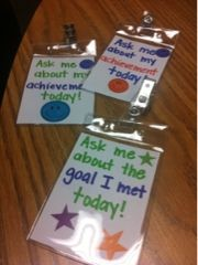 Similar to the brag tags we currently use.  I like that the kids will get noticed by others and can share how they met their goals.