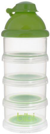 """Bibi Порционный дозатор для детского питания  — 489р. ---------- Порционный дозатор для детского питания """"Bibi"""" состоит из четырех контейнеров с удобным приспособлением для высыпания смеси и съемной крышечки-воронки, которая подходит для любых бутылочек. Пригоден для приготовления молочной смеси как дома, так и в поездке. Удобный дозатор обеспечивает хранение сухого молока в гигиенических условиях. Не содержит бисфенол А!"""