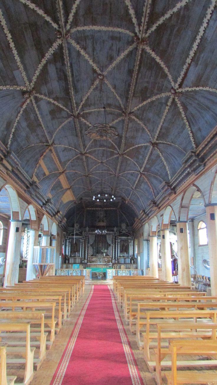 Iglesia de Achao, Chiloe, Chile