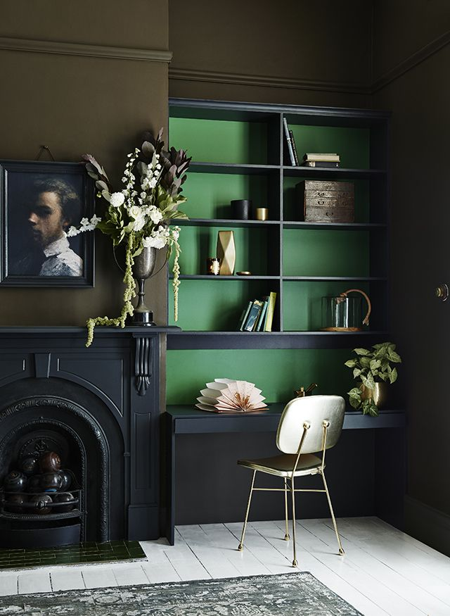 11 Best Images About Dark Green Interiors On Pinterest