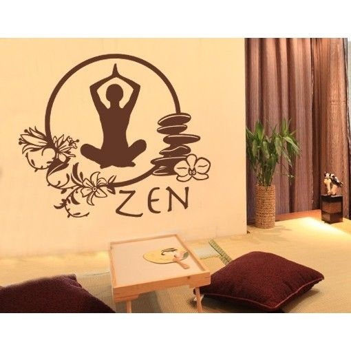 Best Zen Workout Room Images On Pinterest Workout Rooms Wall - Zen wall decalsvinyl wall decal yin yang yoga zen meditation bedroom decor