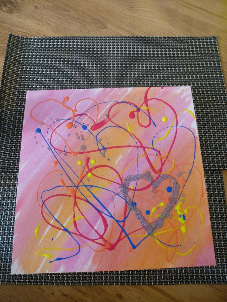 Met nagellak een schilderij maken