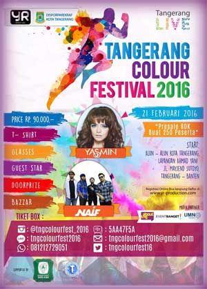 #Tangerang #ColourFestival #ColourRun Tangerang Colour Festival 2016 Colour Run 5K  ACARA: 21 Februari 2016  http://infosayembara.com/info-lomba.php?judul=tangerang-colour-festival-2016-colour-run-5k