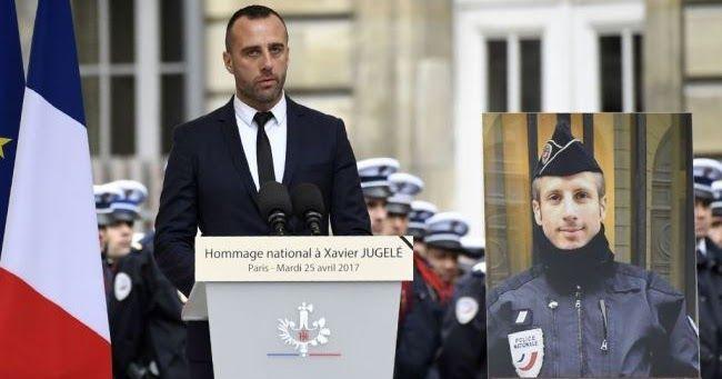 Il compagno di Xavier Jugelè alla commemorazione pubblica: «Non avrete il mio odio»
