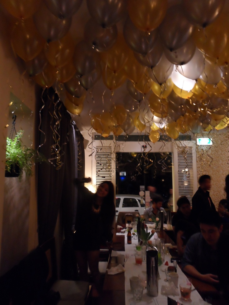 Julie's 22nd Birthday at La Mint... 100 Gold & Silver Balloons!