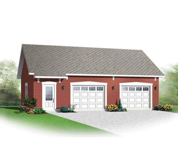27 best detached garage w workshop images on pinterest for Detached 2 car garage designs