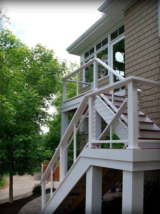 Exterior Stair Ideas | ... Remodel : Stunning Sun Room U0026 Deck Addition Ideas