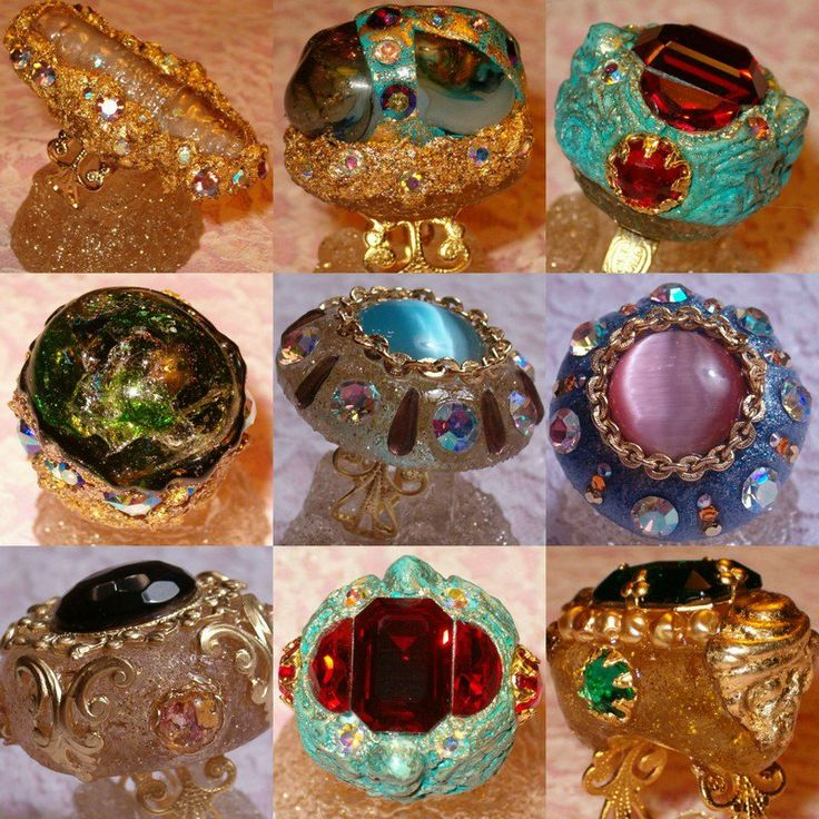 Какие необычные массивные кольца Красиво