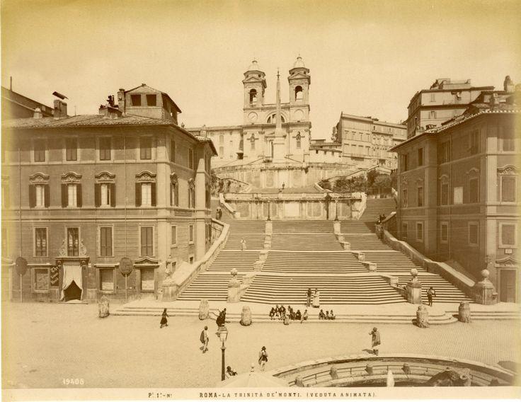 Italie, Roma, La Trinità de'Monti    Année : Circa 1875