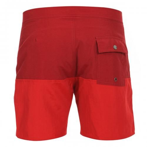 MID-LENGTH COLOR BLOCK NYLON BOARDSHORTS Ennis color blocks nylon Boardshorts, fixed waist with drawstring and Velcro fly a back pocket with snap button, lined interior, Saturdays Surf NYC label sewn on the bottom. COMPOSITION: 100% NYLON. Our model wears size 32, he is 189 cm tall and weighs 86 Kg.