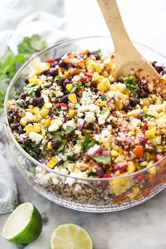 Southwest Quinoa and Grilled Corn Salad is a simple but flavor packed side dish |Southwest Quinoa and Grilled Corn Salad is a simple but flavor packed side dish |foodiecrush