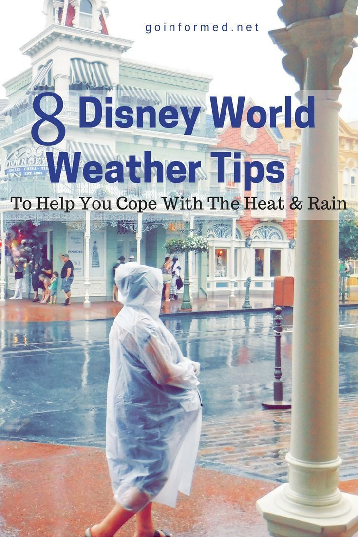 Disney World weather tips - how to deal with heat and rain during the summer months in Orlando.