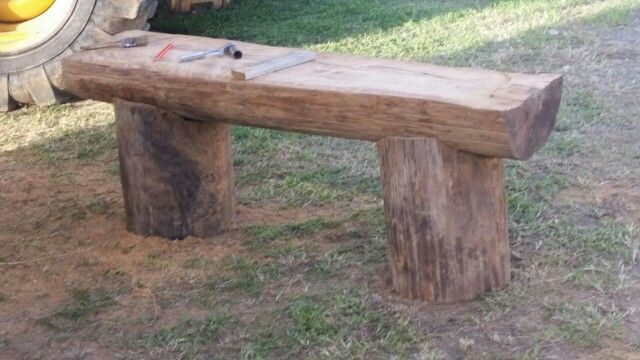 Diy Tree Trunk Bench Wow Pinterest Diy And Crafts Trunks And Trees