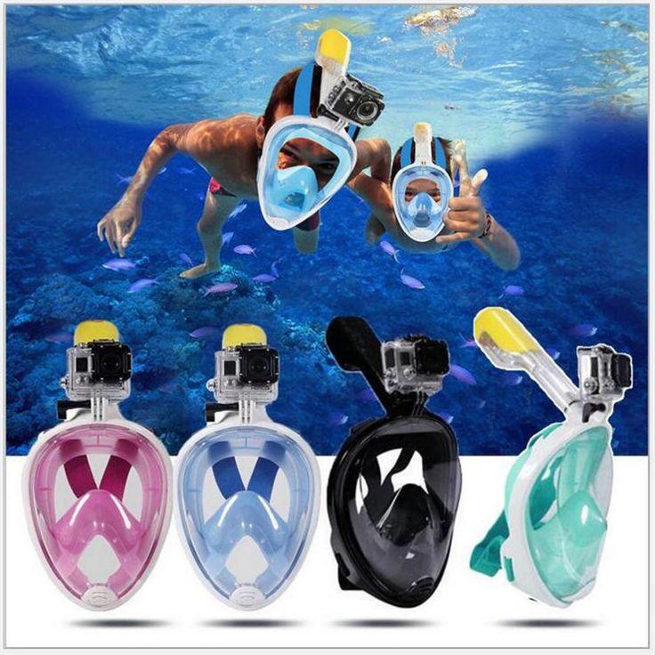 Onderwater Anti Fog Duikbril Snorkel Zwemmen Training Scuba mergulho 2 In 1 volledige gezicht snorkelen masker Gopro Camera Dropship