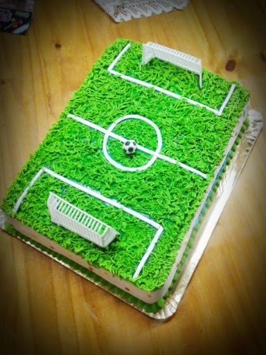 Torta Cancha de Futbol - soccercake - www.facebook.com/lolacorazon.tortas