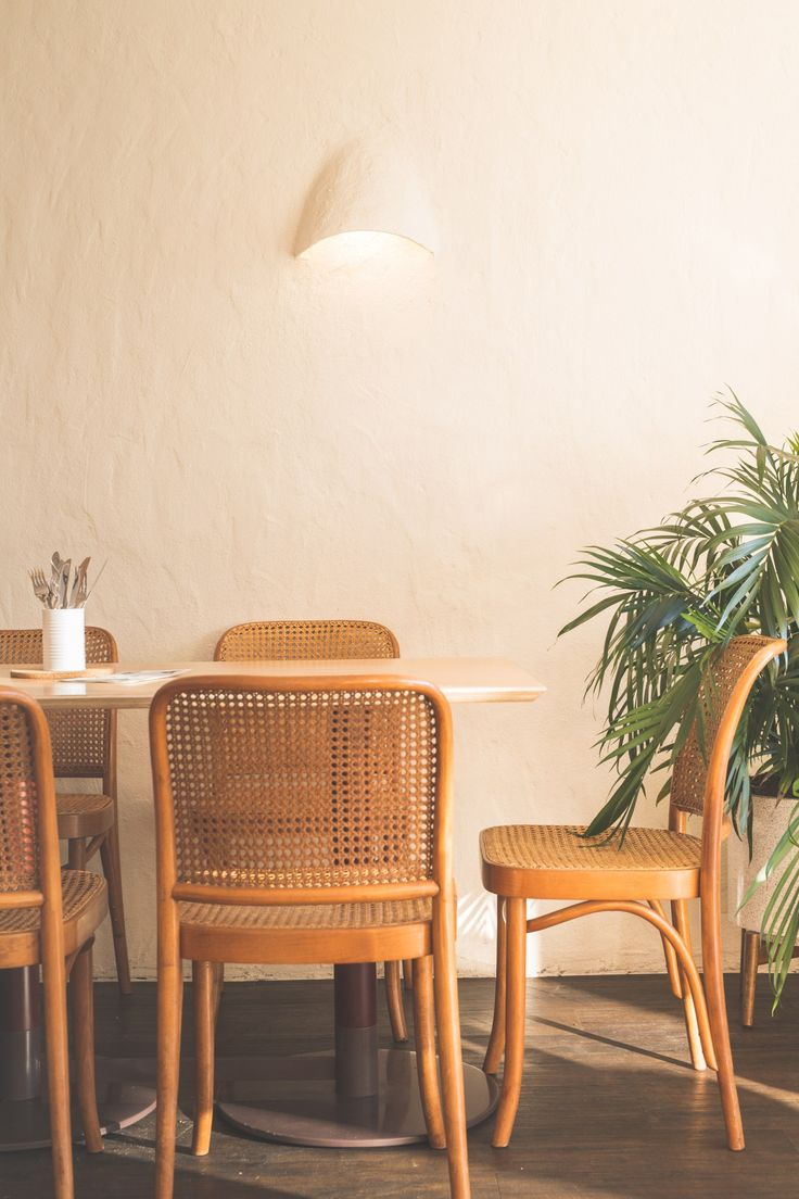 Cane chairs with cushions - Cane Furniture At Eat Burger By Amber Road Image Supplied