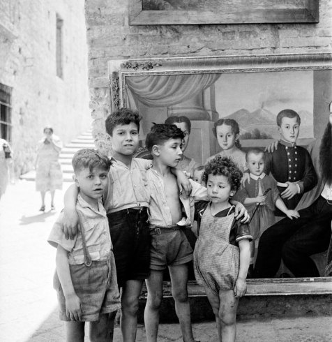 Naples, Italy. 1948 Posing for a portrait  David Seymour