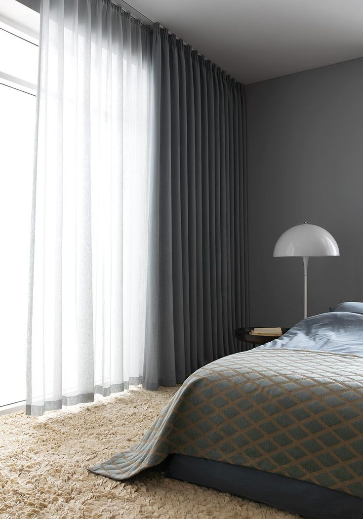 I love having the options of sheer curtains and solid curtains on same rod or same : same-curtains-in-every-room - designwebi.com