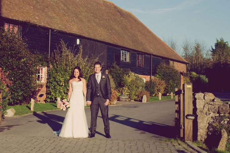 Entrance to the barns - Wedding venue in Kent.